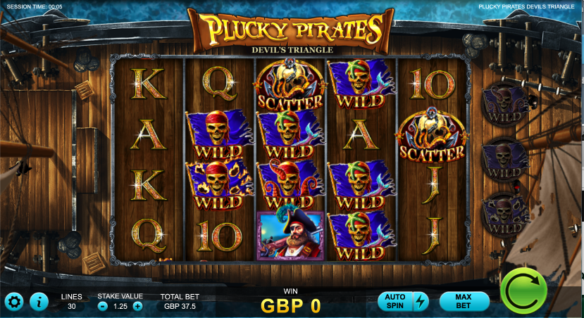 plucky pirates devils triangle screenshot