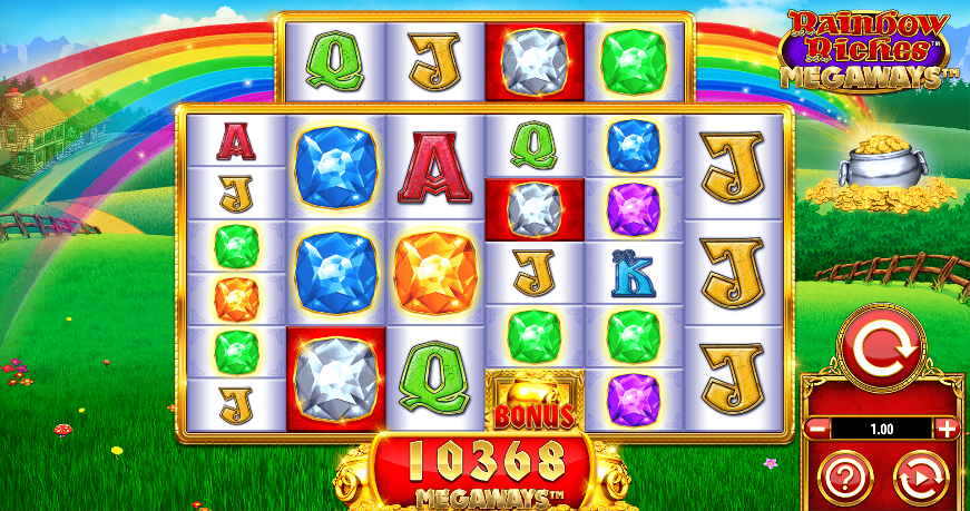 rainbow riches megaways screenshot