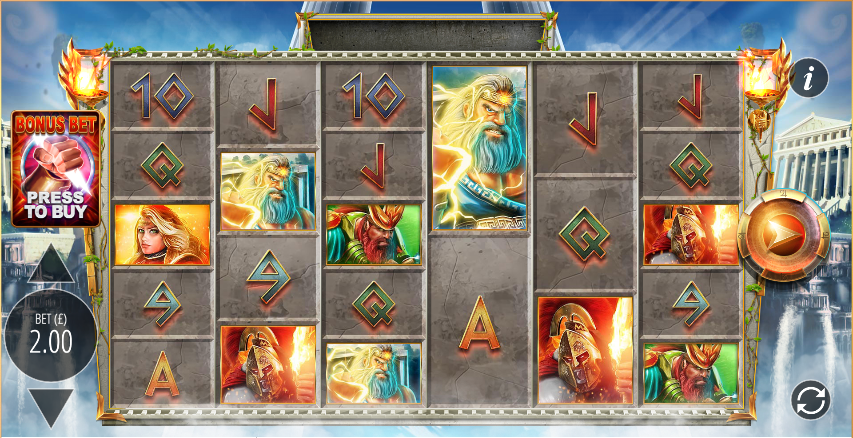 gods of olympus megaways screenshot