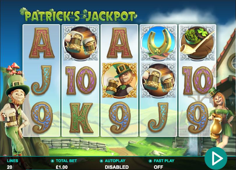 patricks jackpot screenshot