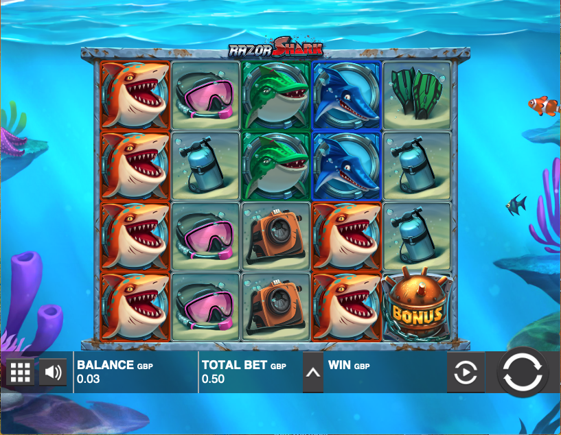 razor shark screenshot