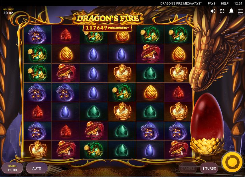 dragon's fire megaways screenshot
