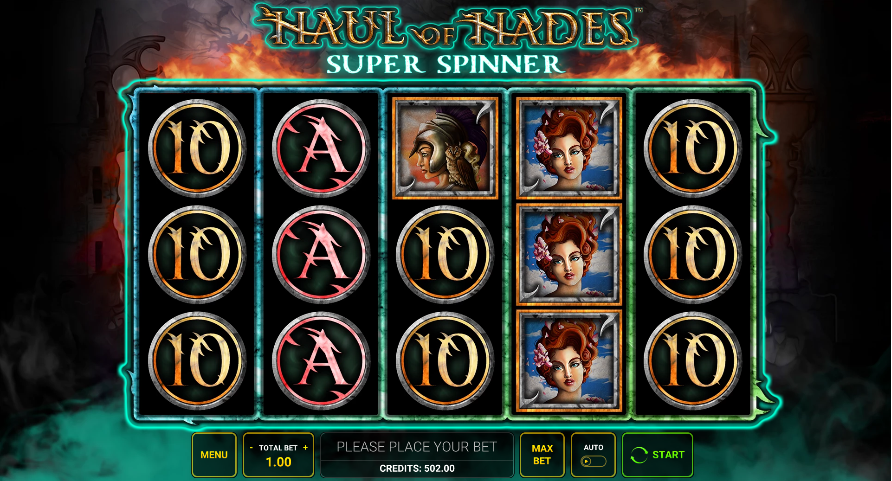 haul of hades super spinner screenshot
