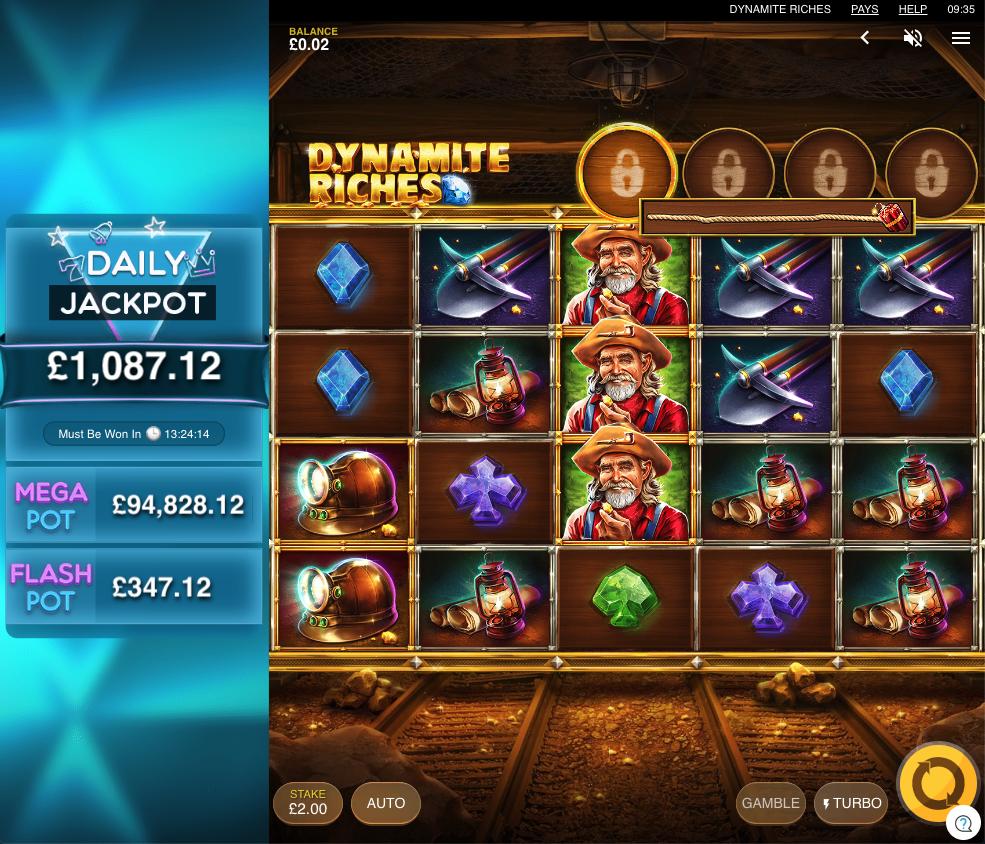 dynamite riches screenshot