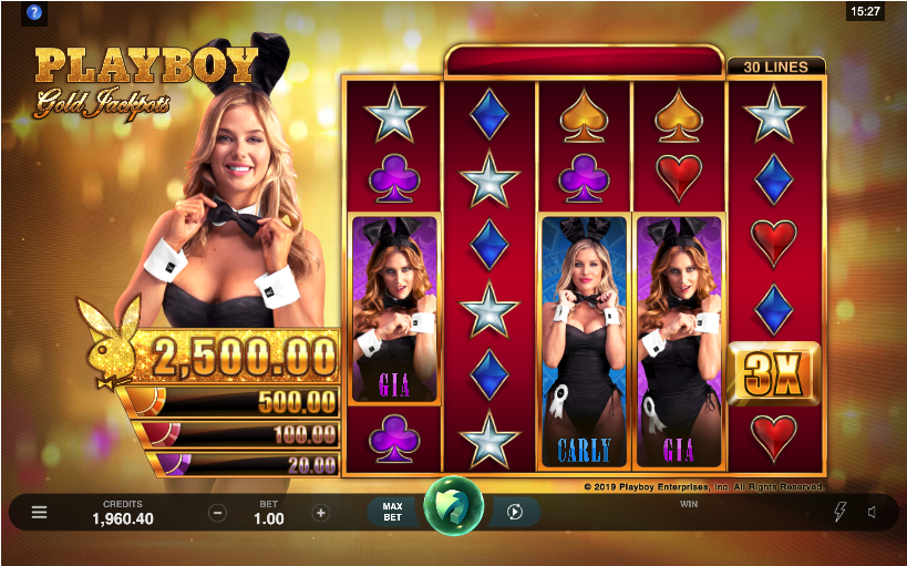 playboy gold jackpots screenshot