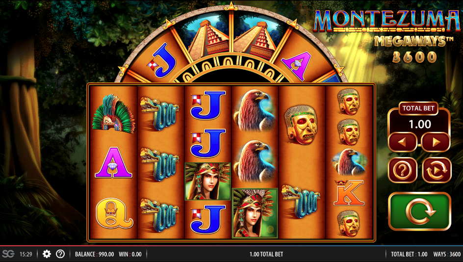 montezuma megaways screenshot