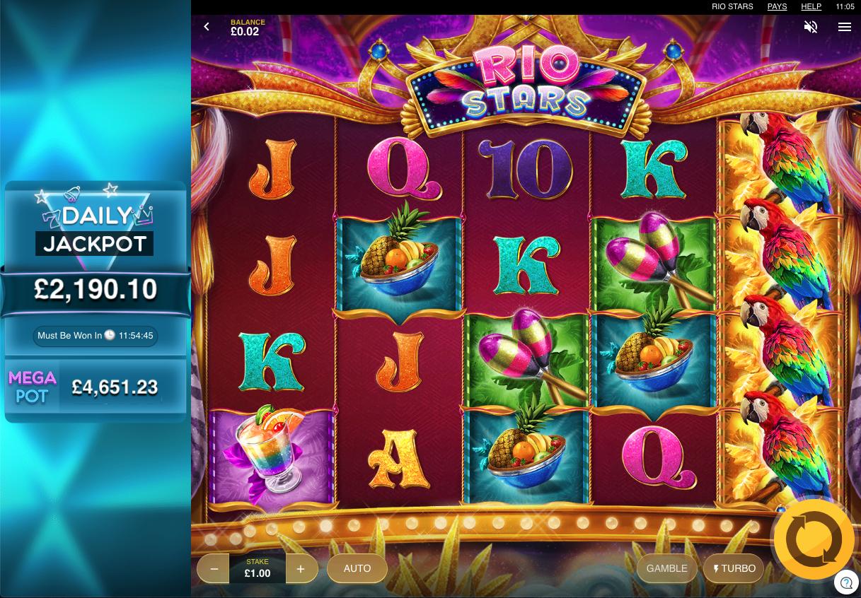 rio spins screenshot