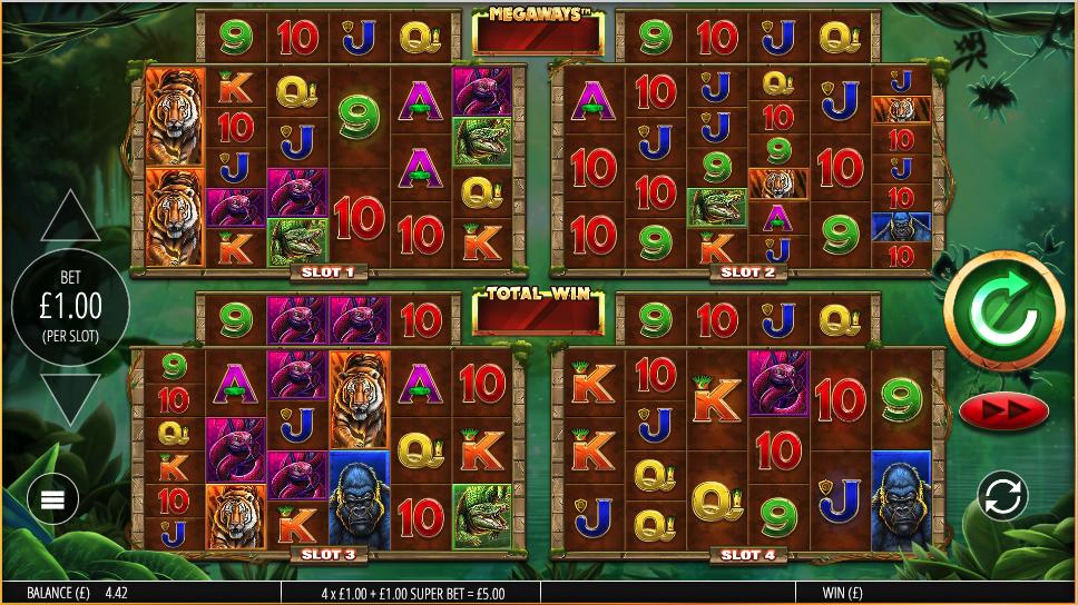 gorilla gold megaways screenshot