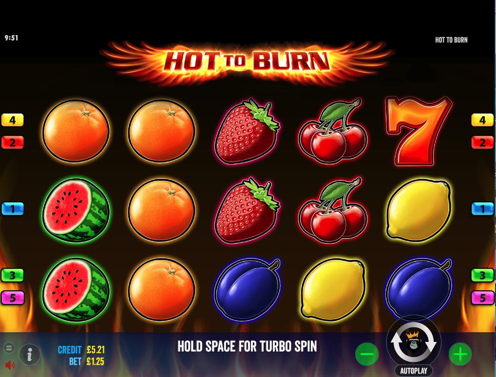hot to burn screenshot