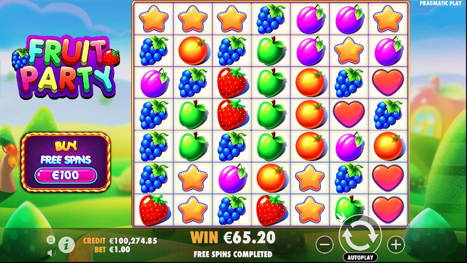 fruit party screenshot