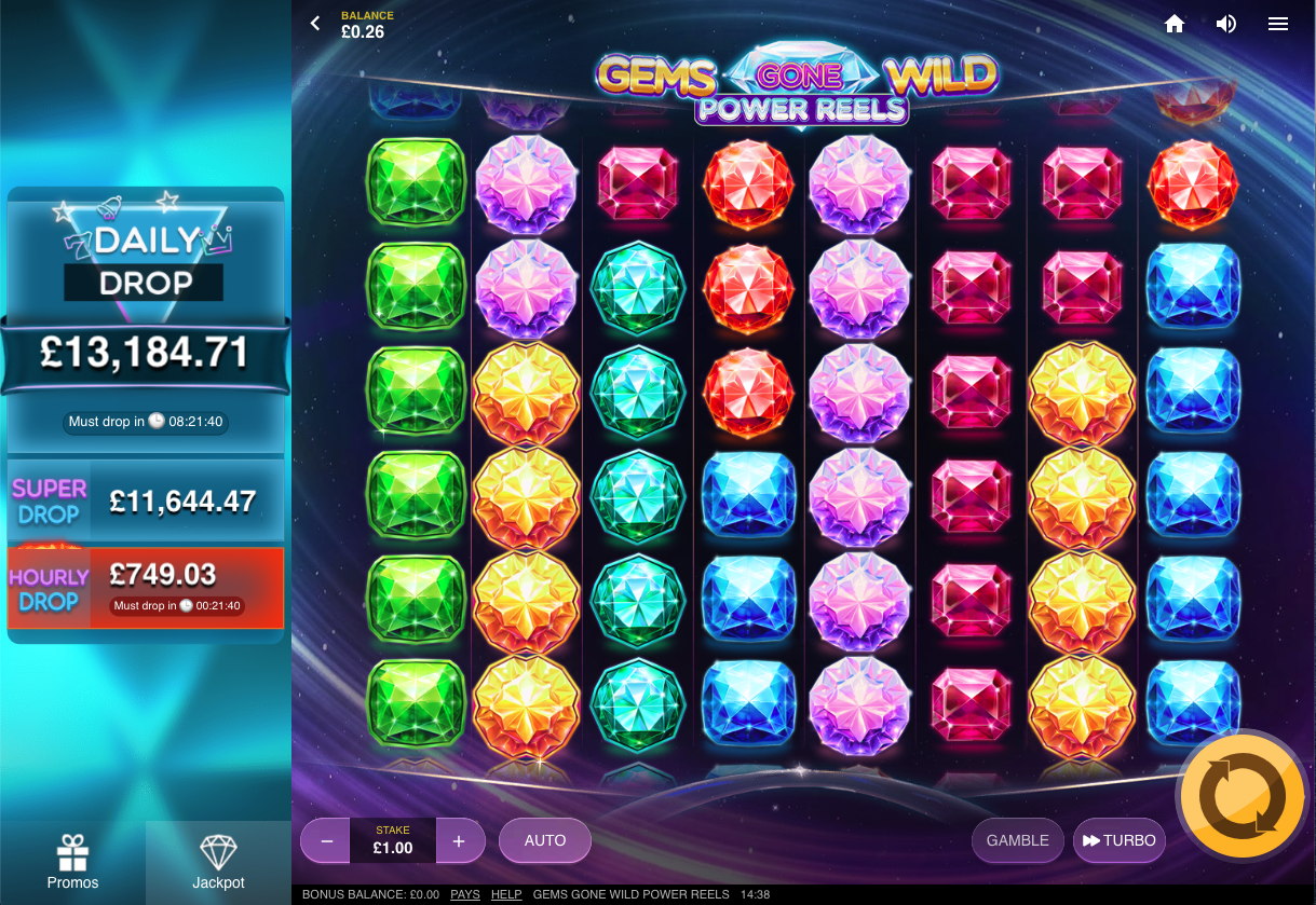 gems gone wild screenshot