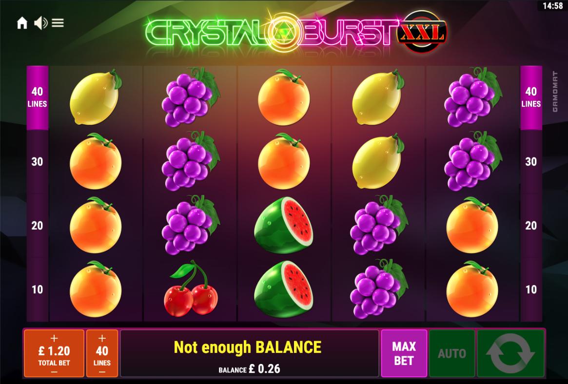 crystal burst xxl screenshot