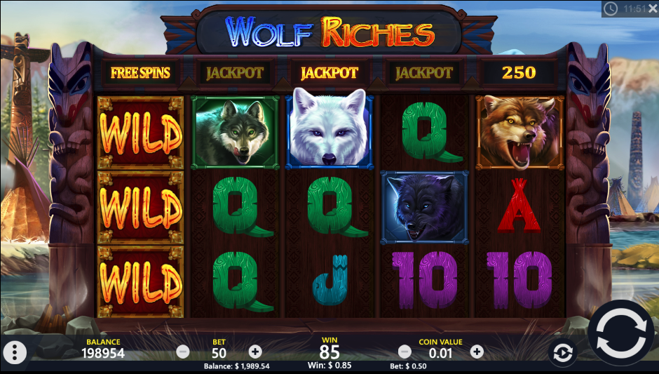 wolf riches screenshot