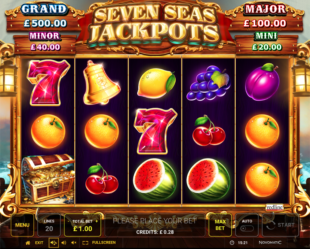 seven seas jackpots screenshot