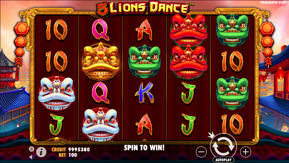 5 lions dance screenshot