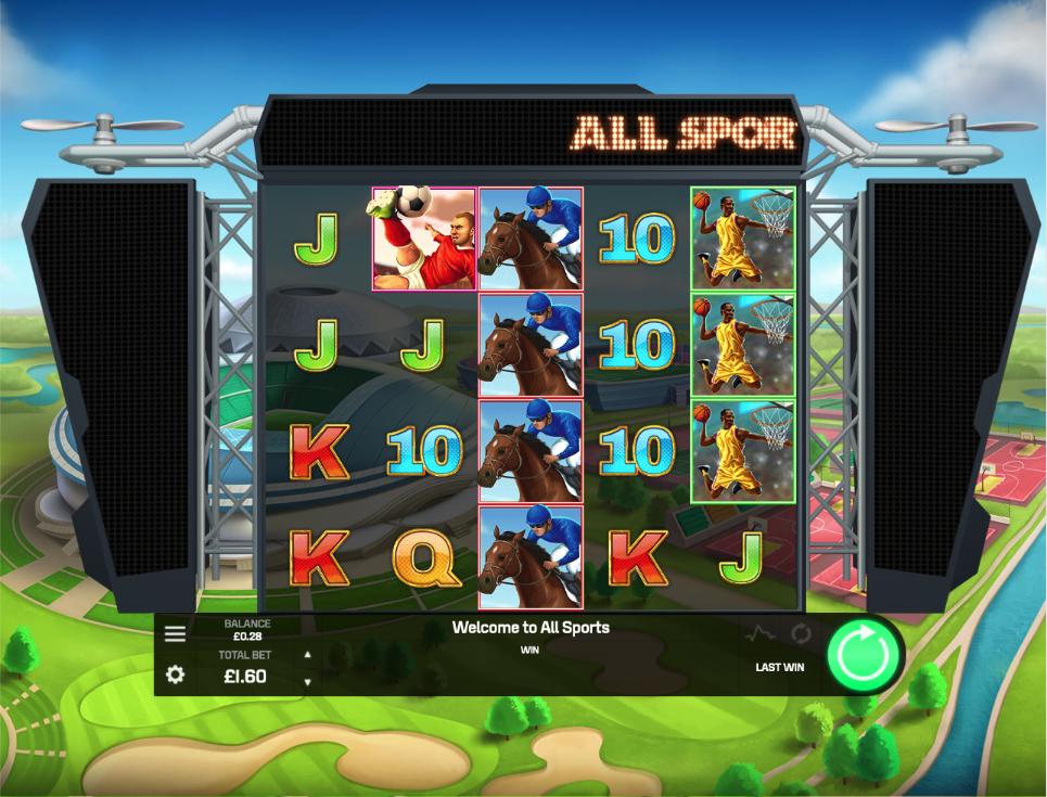 all sports screenshot