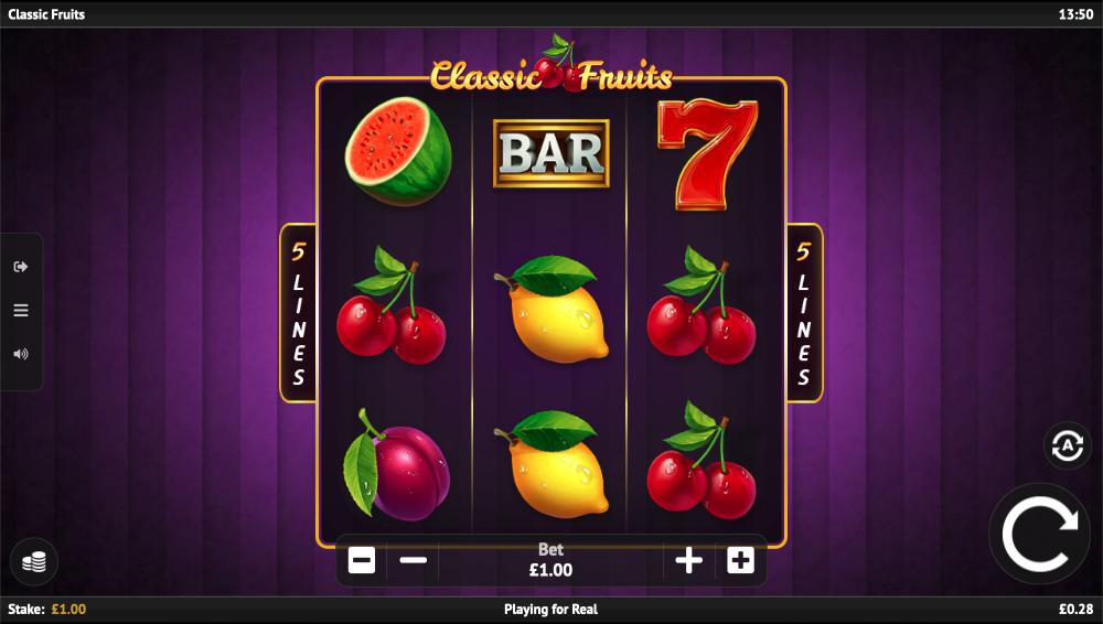 classic fruits screenshot