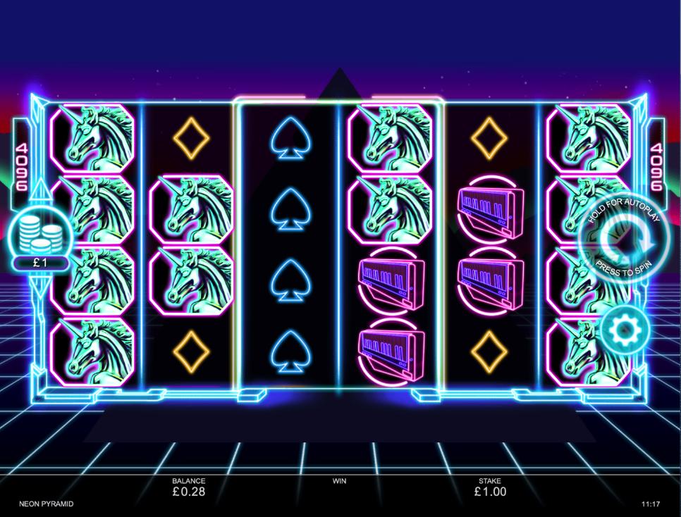 neon pyramid screenshot