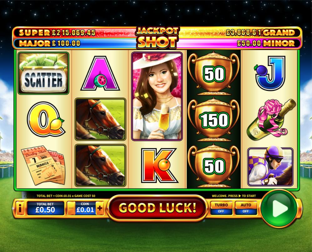 derby shot jackpot screenshot