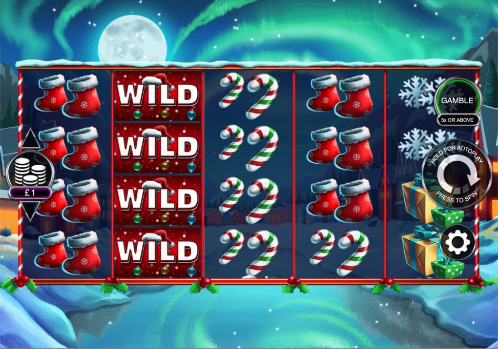 santa stacked free spins screenshot