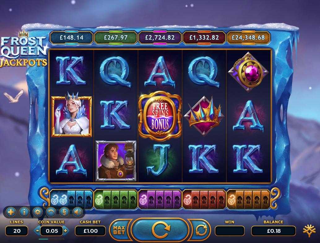 frost queen jackpots screenshot