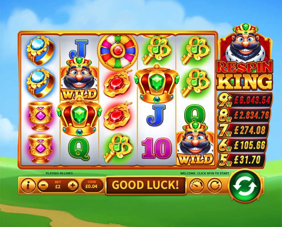 respin king jackpot screenshot