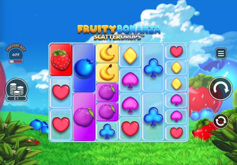 fruity bonanza scatter drops screenshot