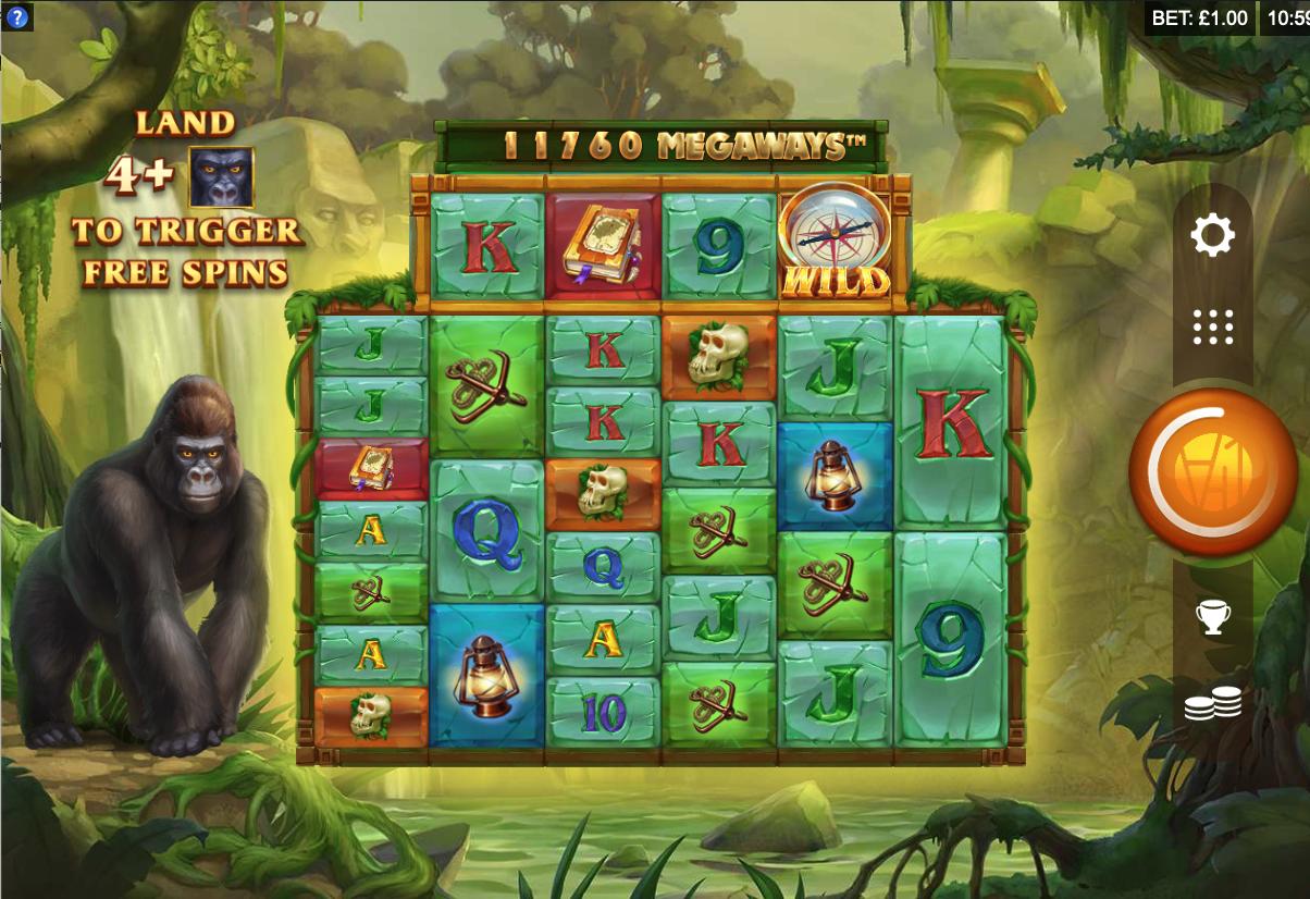 forgotten island megaways screenshot