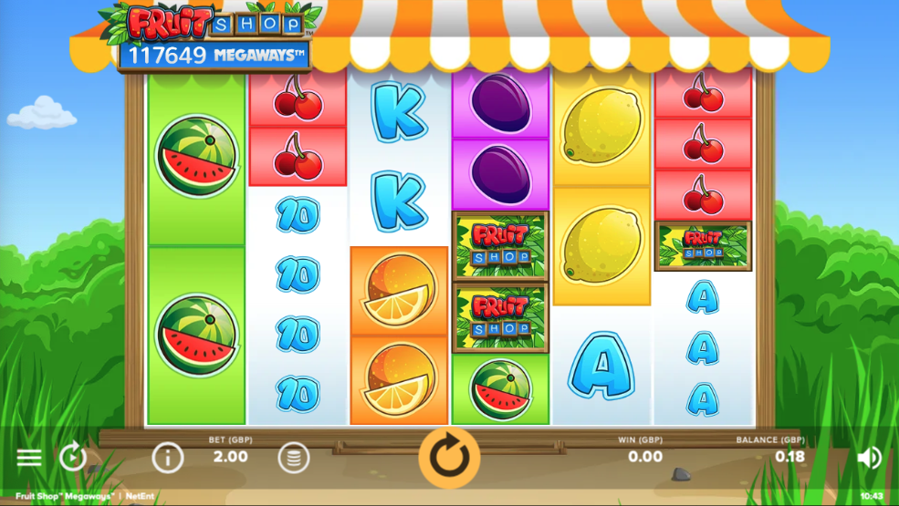 fruit shop megaways screenshot