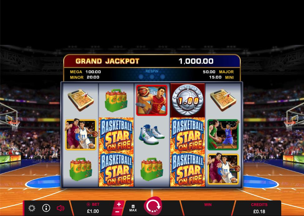 basketball star on fire screenshot