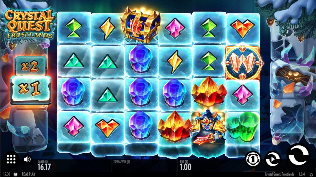 crystal quest frostlands slot review