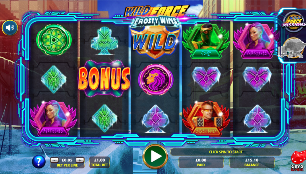 wild force frosty wins riches screenshot
