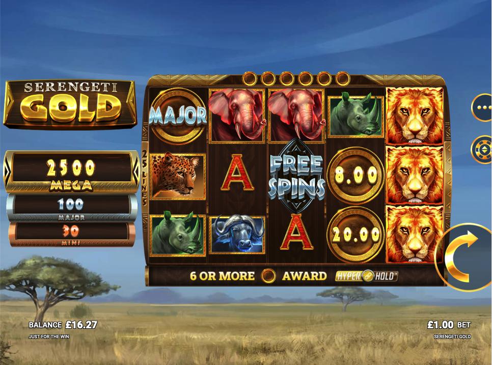 Serengeti gold screenshot
