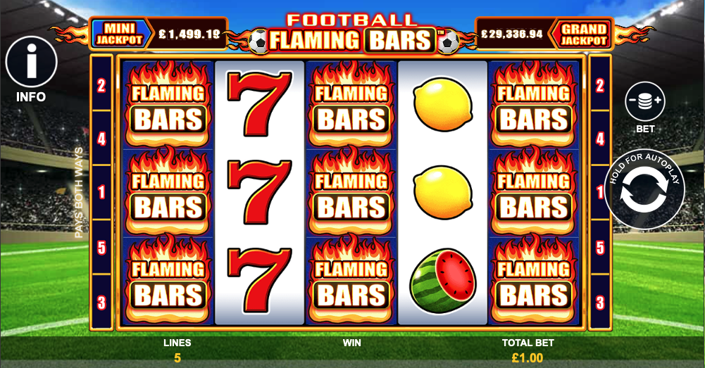 flaming bars screenshot