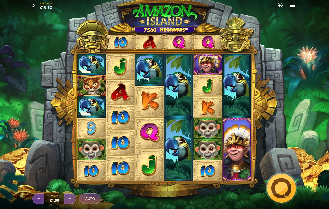 Amazon Island Megaways screenshot